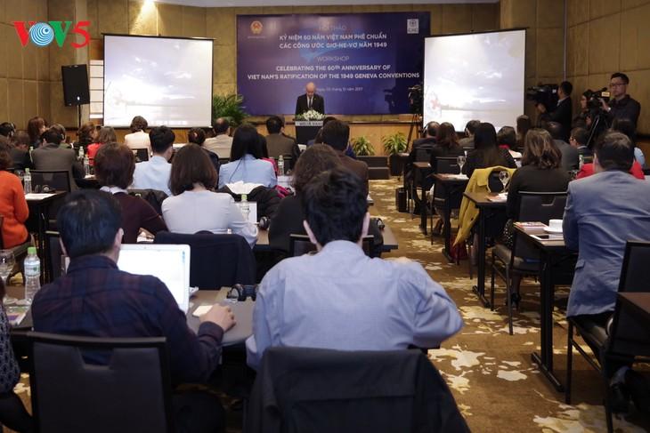 เวียดนามผลักดันการปฏิบัติอนุสัญญาเจนีวาเกี่ยวกับกฎหมายมนุษยธรรมระหว่างประเทศ - ảnh 1