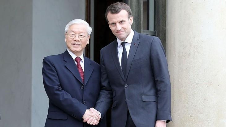 ผู้นำเวียดนามและฝรั่งเศสเห็นพ้องเนื้อหาร่วมมือที่สำคัญๆ - ảnh 1