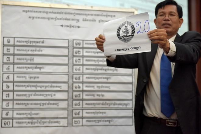 กัมพูชาเริ่มการรณรงค์หาเสียงเลือกตั้งรัฐสภา - ảnh 1