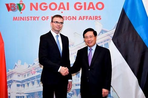 การเจรจาระหว่างรองนายกรัฐมนตรีและรัฐมนตรีต่างประเทศฝ่ามบิ่งมิงห์กับรัฐมนตรีต่างประเทศเอสโตเนีย - ảnh 1