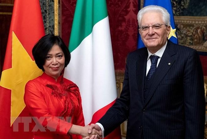 เวียดนามให้ความสนใจเป็นอันดับต้นๆต่อการพัฒนาความสัมพันธ์ร่วมมือในทุกด้านกับอิตาลี - ảnh 1