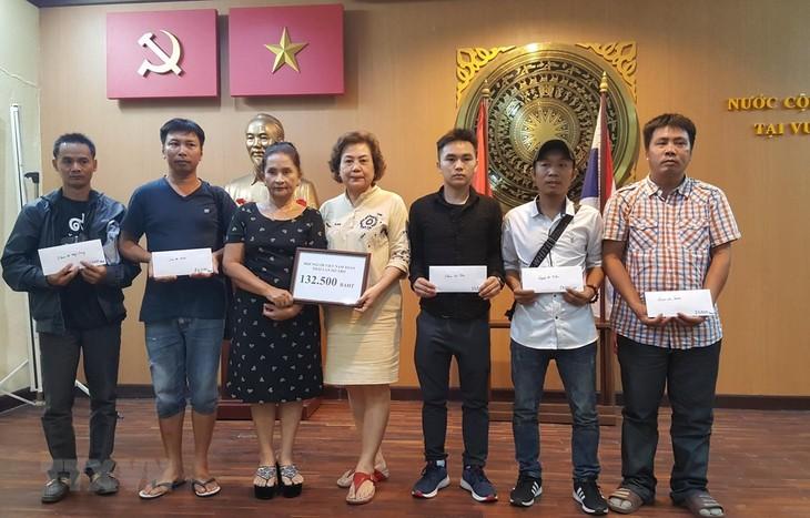 ให้การช่วยเหลือชาวเวียดนามที่ประสบอุบัติเหตุถูกรถพ่วงชนในประเทศไทย - ảnh 1