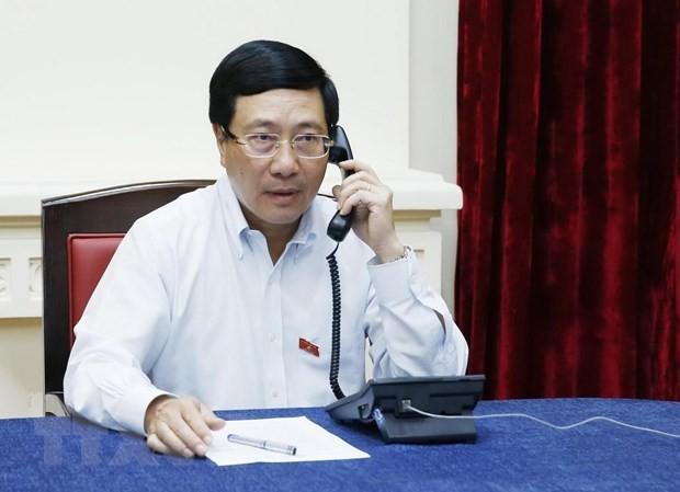 เวียดนามและสิงคโปร์พูดคุยทางโทรศัพท์เกี่ยวกับบทปราศรัยของนายกรัฐมนตรี ลีเซียนลุง - ảnh 1