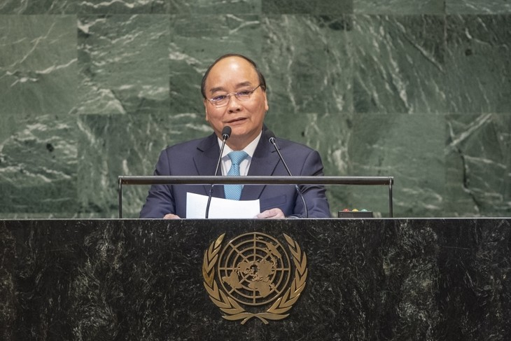 """""""หุ้นส่วนเพื่อสันติภาพอย่างยั่งยืน-เวียดนามพร้อมมีส่วนร่วมอย่างเข้มแข็งต่อความพยายามของนานาชาติเพื่อสันติภาพ ความมั่นคง การพัฒนาและความก้าวหน้า"""" - ảnh 1"""