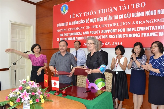 Canada supports Vietnam's agricultural restructuring