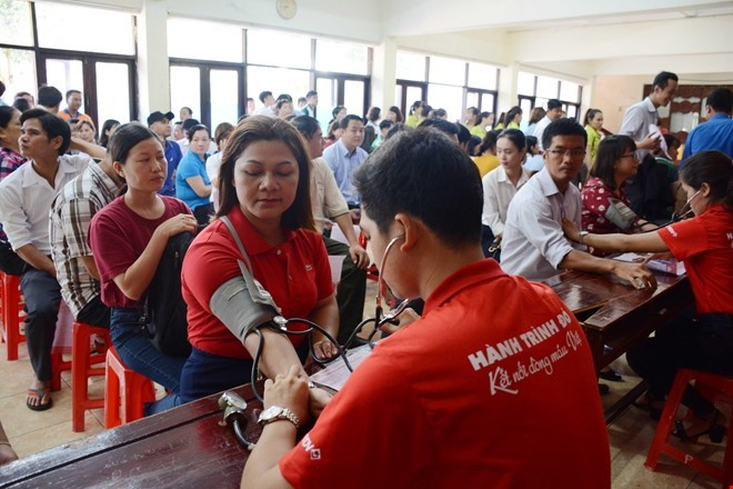 Red Journey in Danang draws 1,500 blood donors - ảnh 1