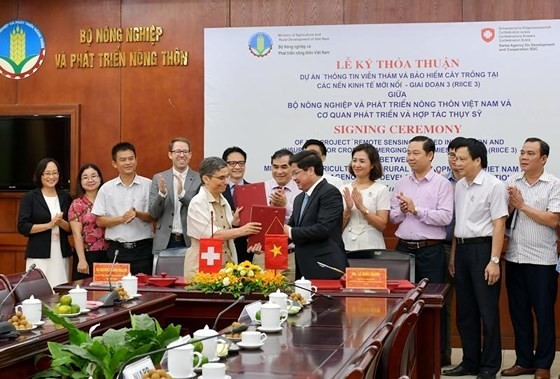 Switzerland helps Vietnam apply remote-sensing technology in rice production - ảnh 1