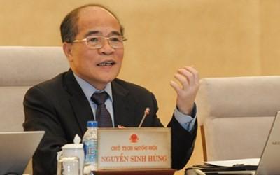 Parlamentspräsident Nguyen Sinh Hung empfängt Delegation des US-Repräsentantenhauses - ảnh 1