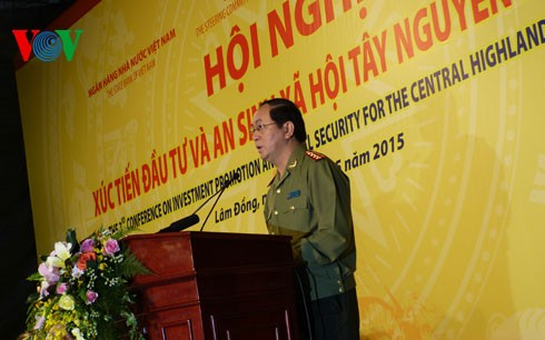 Konferenz über Investition und soziale Sicherheit in Tay Nguyen - ảnh 1