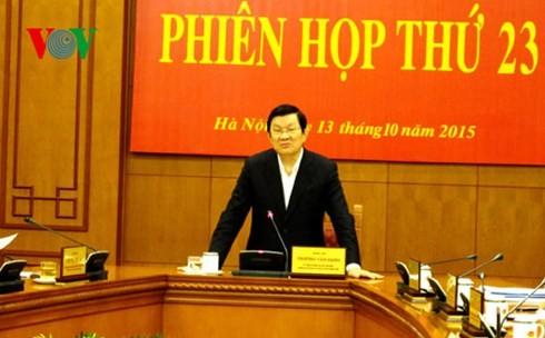 Staatspräsident Truong Tan Sang: Aufbau einer transparenten und gleichberechtigten Justiz - ảnh 1