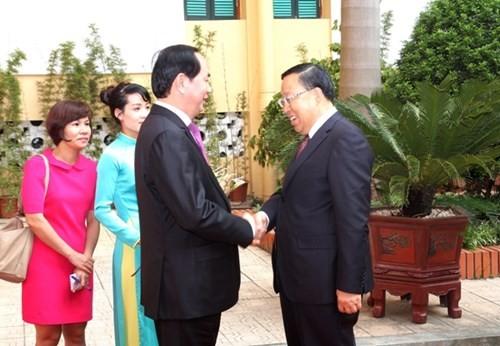 Premierminister Nguyen Tan Dung trifft den chinesischen Sicherheitsminister Geng Huichang - ảnh 1