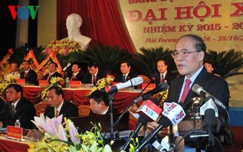 Eröffnung der Parteikonferenz der Provinzen Hai Duong und Thai Nguyen  - ảnh 1