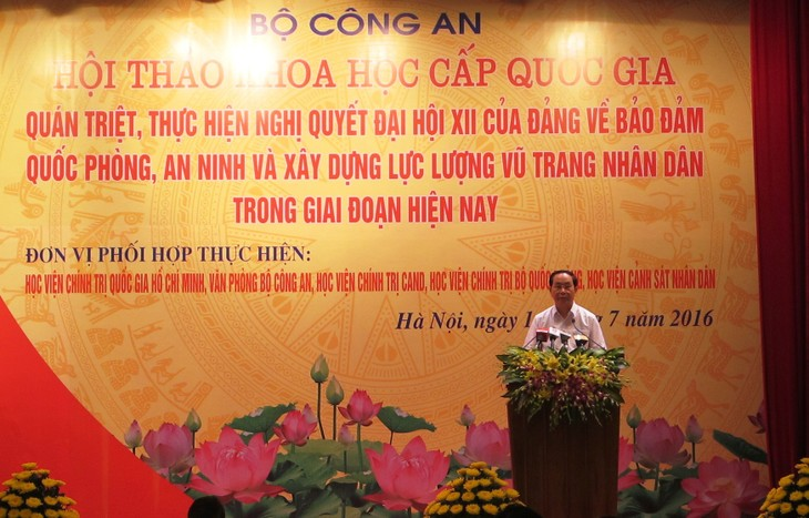 Staatspräsident zu Gast beim nationalen Seminar des Ministeriums für öffentliche Sicherheit - ảnh 1