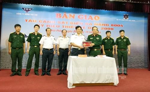 Oberkommando der vietnamesischen Seepolizei überreicht Mehrzweckschiff DN-2000  - ảnh 1