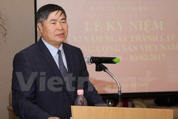 Vietnamesische Botschaft in Deutschland feiert den 87. Gründungstag der KPV - ảnh 1