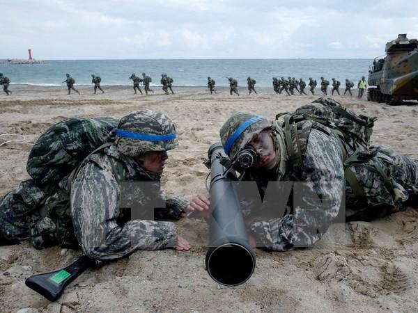 Noch kein Signal der Reduzierung der Spannungen auf der koreanischen Halbinsel  - ảnh 1