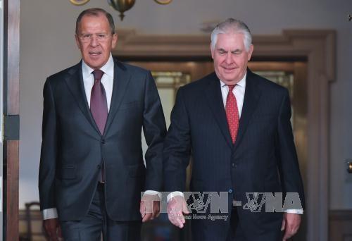 Außenminister Russlands und der USA telefonieren über die Lage Nordkoreas und Syriens - ảnh 1