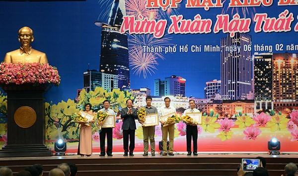 Ho Chi Minh Stadt veranstaltet Treffen zum Neujahr für Auslandsvietnamesen - ảnh 1