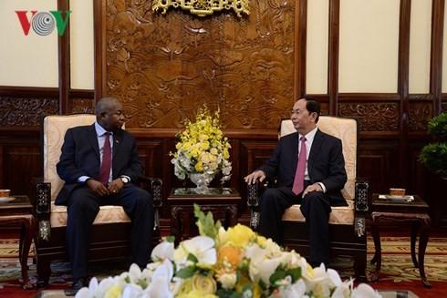 Staatspräsident Tran Dai Quang empfängt Botschafter aus VAE, Mosambik und Südkorea - ảnh 1