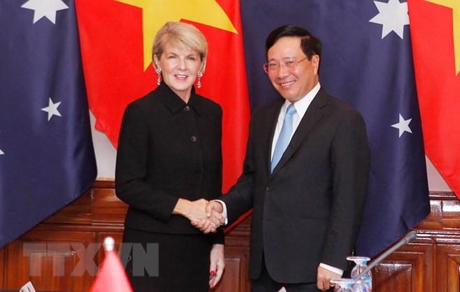 Erste Sitzung der Außenminister zwischen Vietnam und Australien in Hanoi - ảnh 1