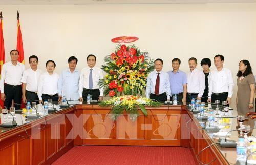 Vorsitzender der Vaterländischen Front Vietnams beglückwünscht Pressebehörde  - ảnh 1