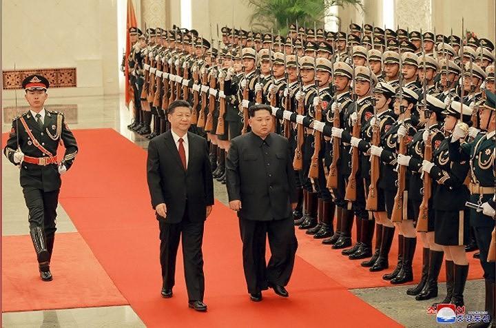Nordkoreas Staatschef Kim Jong-un besucht China - ảnh 1