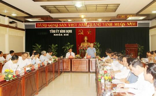 Leiter des Sekretariats tagt mit Leitern der Provinz Binh Dinh - ảnh 1