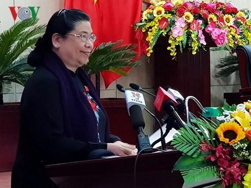 Vizeparlamentspräsidentin Tong Thi Phong nimmt an der Sitzung des Volksrats der Stadt Da Nang teil - ảnh 1