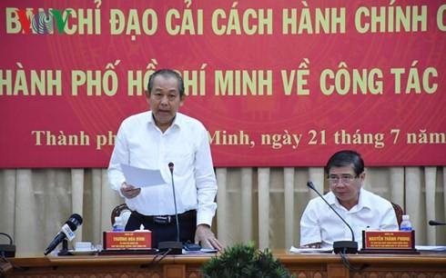 Ho Chi Minh Stadt verstärkt Verwaltungsreform für die Zufriedenheit der Bewohner - ảnh 1