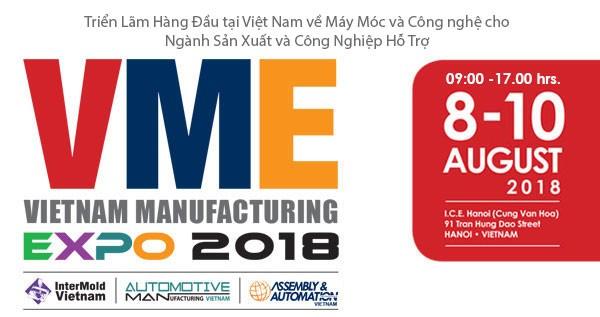 """Unternehmen aus 20 Ländern nehmen an Messe """"Vietnam Manufacturing Expo 2018"""" in Hanoi teil - ảnh 1"""