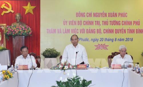 Premierminister Nguyen Xuan Phuc tagt mit Leitern der Provinz Binh Phuoc - ảnh 1