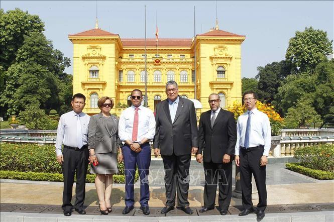 KPV-Generalsekretär Nguyen Phu Trong empfängt hochrangige Delegation der dominikanischen Republik - ảnh 1