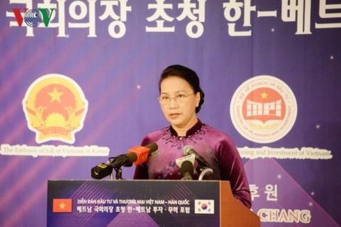 Parlamentspräsidenten Vietnams und Südkoreas nehmen am Investitions- und Handelsforum beider Länder teil - ảnh 1