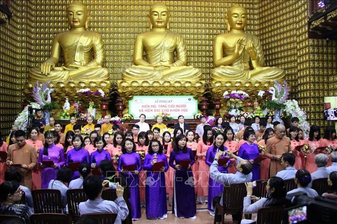 Mehr als 300 Menschen registrieren für freiwillige Spenden von Gewebe und Organen für Rettung von Menschen - ảnh 1
