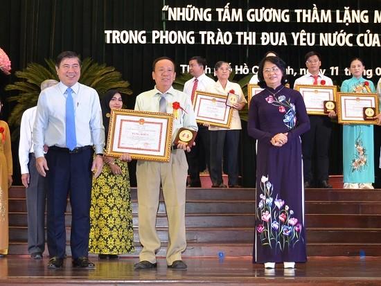 Ho Chi Minh Stadt ehrt 96 Vorbilder der patriotischen Kampagnen - ảnh 1