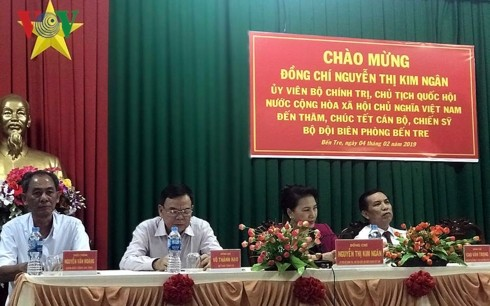 Neujahrsfest: Parlamentspräsidentin Nguyen Thi Kim Ngan besucht Provinz Ben Tre - ảnh 1