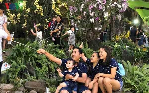 Mehr als eine Million Touristen besuchten Blumenfest in Ho Chi Minh Stadt - ảnh 1