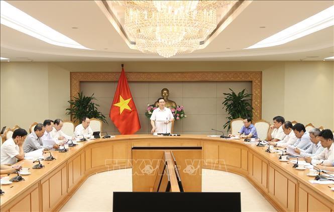 Vizepremierminister Vuong Dinh Hue leitet Sitzung der Zentralabteilung für nationale Zielprogramme - ảnh 1