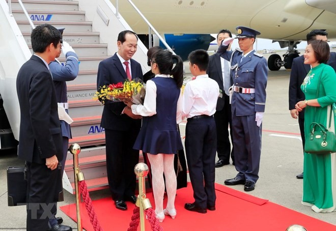 President begins state visit to Japan - ảnh 1