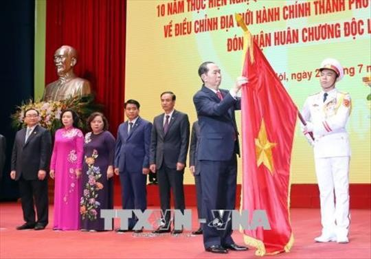 Hanoi celebrates 10 years of expansion - ảnh 1