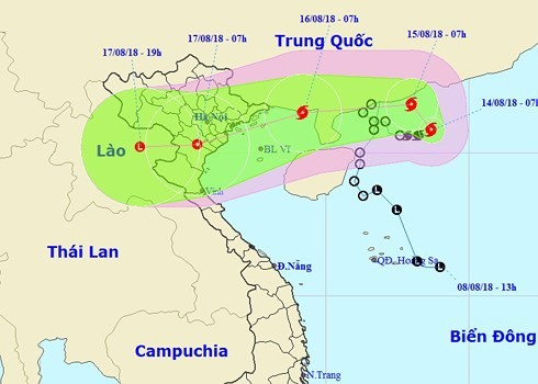 Storm Bebinca likely to affect Vietnam Airlines flights  - ảnh 1