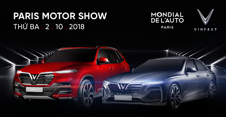 First made-in-Vietnam cars roll out at Paris Motor Show  - ảnh 1