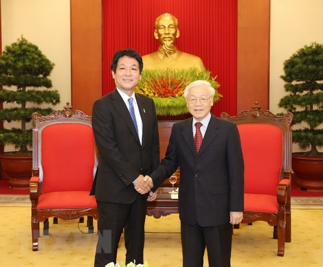 Party and State leader welcomes Japanese PM's special envoy - ảnh 1