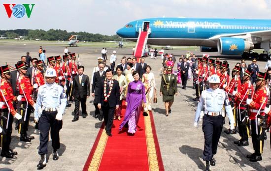 ประธานประเทศเวียดนามเจรจากับประธานาธิบดีอินโดนีเซีย - ảnh 1