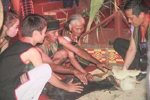 ประเพณีการเซ่นไหว้เพื่อขอให้สุขภาพแข็งแรงของชาวเผ่าเมอนง - ảnh 1