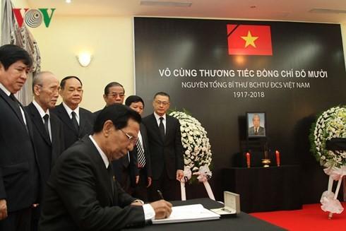 สถานทูตเวียดนามประจำประเทศต่างๆเปิดให้ลงนามในสมุดไว้อาลัยอดีตเลขาธิการใหญ่พรรคคอมมิวนิสต์เวียดนาม โด๋เหมื่อย - ảnh 6