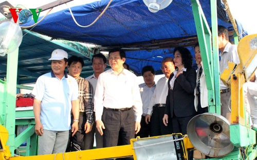 President Truong Tan Sang pays working visit to Binh Thuan province - ảnh 2