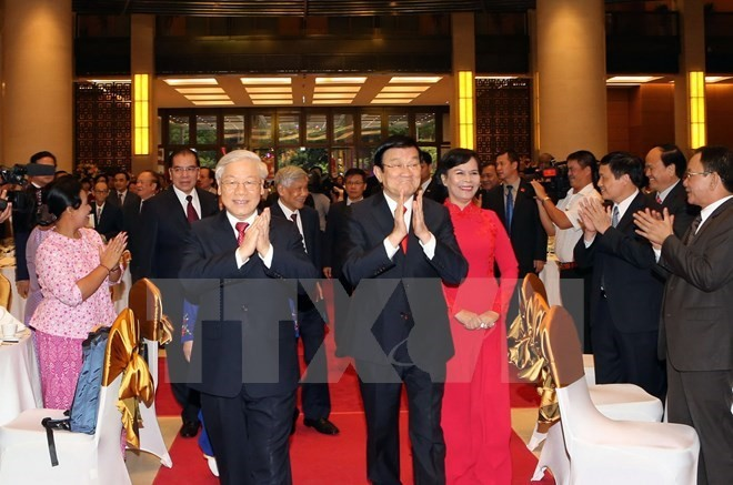Leaders hold banquet to mark National Day - ảnh 1