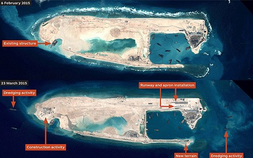 Photo exhibit on China's reclamation, island building in the East Sea held in RoK - ảnh 2