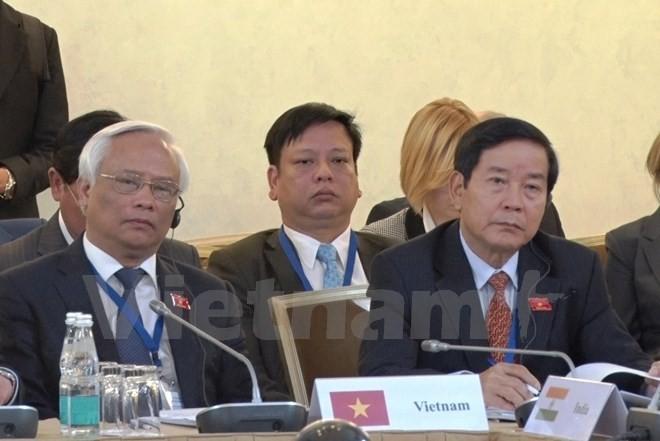 Vietnam attends first meeting of Eurasian parliament speakers - ảnh 1
